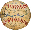 Baseball Collectibles:Balls, 1952 New York Yankees Team Signed Baseball from The Gene WoodlingCollection. ...