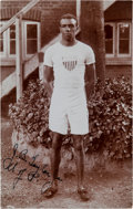 Olympic Collectibles:Autographs, 1908 John Taylor USA Olympic Runner Signed Real Photo Postcard--First Black Gold Medalist!...