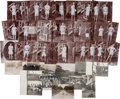 Olympic Collectibles:Autographs, 1908 London Summer Olympics USA Track & Field Team Signed Real Photo Postcards Lot of 60....