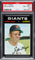Baseball Cards:Singles (1970-Now), 1971 Topps Willie Mays #600 PSA NM-MT+ 8.5....