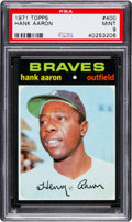 Baseball Cards:Singles (1970-Now), 1971 Topps Hank Aaron #400 PSA Mint 9....