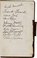 Baseball Collectibles:Others, 1924 Baseball World Tour Multi-Signed Trip Diary with Frisch, Groh, Bancroft & Stengel. ...