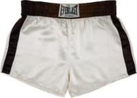 "1974 Muhammad Ali Fight Worn Trunks from ""The Rumble in the Jungle!"" vs. George Foreman"