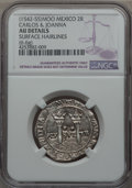 Mexico, Mexico: Carlos & Johanna 2 Reales ND (1542-55) Mo-O AU Details(Surface Hairlines) NGC,...