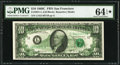 Error Notes:Offsets, Fr. 2021-L $10 1969C Federal Reserve Note. PMG Choice Uncirculated 64 EPQ*.. ...