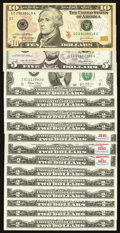 Small Size:Group Lots, A Selection of Small Size Federal Reserve Notes.. ... (Total: 15 notes)