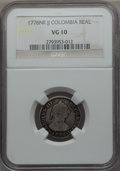 Colombia, Colombia: Charles III Real 1776 NR-JJ VG10 NGC,...