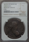 Mexico:Chihuahua, Mexico: Chihuahua. War of Independence - Ferdinand VII 8 Reales1817 Ca-RP F15 NGC,...