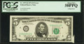 Error Notes:Attached Tabs, Fr. 1973-D $5 1974 Federal Reserve Note. PCGS About New 50PPQ.. ...