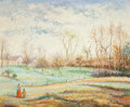 Paintings, Hughes Claude Pissarro (French, b. 1935). Le bois Maillard. Oil on canvas. 24 x 28-1/2 inches (61.0 x 72.4 cm). Signed l...