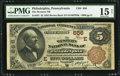 National Bank Notes:Pennsylvania, Philadelphia, PA - $5 1882 Brown Back Fr. 467 The Western NB Ch. #(E)656. ...