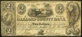 Obsoletes By State:Michigan, Pontiac, MI- Oakland County Bank $2 Oct. 10, 1840. ...