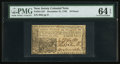 Colonial Notes:New Jersey, New Jersey December 31, 1763 18d PMG Choice Uncirculated 64 EPQ.....
