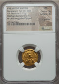 Ancients:Byzantine, Ancients: Constans II Pogonatus (AD 641-668). AV semissis (2.17gm)....
