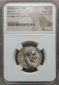 Ancients:Roman Provincial , Ancients: PHOENICIA. Tyre. Macrinus (AD 217-218). AR tetradrachm(11.81 gm)....