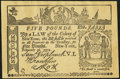 Colonial Notes:New York, Facsimile New York February 16, 1771 £5 / St. Jacobs Oil Ad NoteExtremely Fine.. ...