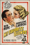 "Movie Posters:Comedy, My Favorite Blonde (Paramount, 1942). One Sheet (27"" X 41""). Comedy.. ..."