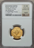 Ancients:Byzantine, Ancients: Phocas (AD 602-610). AV solidus (4.36 gm)....