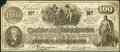 Confederate Notes:1862 Issues, Facsimile T41 $100 1862 Hughes Witch Hazel Ad Note.. ...