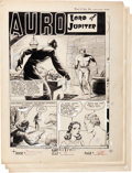Original Comic Art:Complete Story, Rafael Astarita Planet Comics #24 Auro Lord of Jupiter Complete 6-Page Story Original Art (Fiction House, 1943).... (Total: 6 Original Art)
