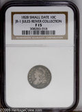 Bust Dimes: , 1828 10C JR-1 Small Date F15 NGC....