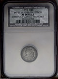 Bust Dimes: , 1833 10C JR-9 --Improperly Cleaned, Scratched--NCS. XF Details....