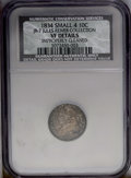 Bust Dimes: , 1834 10C JR-7 Small 4--Improperly Cleaned-- NCS. VF Details....