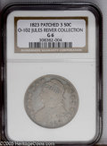 Bust Half Dollars: , 1823 50C 0-102 Patched 3 Good 6 NGC....