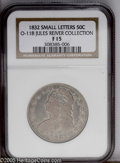 Bust Half Dollars: , 1832 50C O-118 Small Letters F15 NGC....