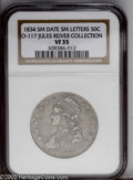 Bust Half Dollars: , 1834 50C O-117 Small Date, Small Letters VF35 NGC....