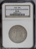 Bust Half Dollars: , 1836 50C O-112 Lettered Edge XF45 NGC....