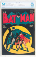 Golden Age (1938-1955):Superhero, Batman #9 (DC, 1942) CBCS VF 8.0 Off-white to white pages....