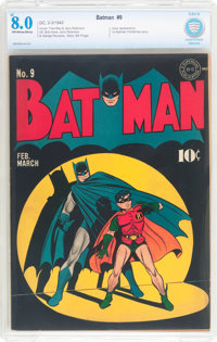 Batman #9 (DC, 1942) CBCS VF 8.0 Off-white to white pages