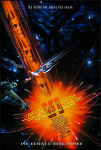 "Star Trek VI: The Undiscovered Country & Others Lot (Paramount, 1991). One Sheet (27"" X 41"") SS Advance, M..."