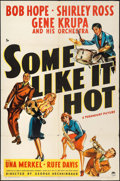 """Movie Posters:Comedy, Some Like It Hot (Paramount, 1939). One Sheet (27"""" X 41""""). Comedy.. ..."""