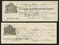 Miscellaneous:Checks, Pair of Georgia Railroad Bank and Trust Company Fiscal Documents1932-35... (Total: 2 items)