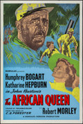 "Movie Posters:Adventure, The African Queen (Romulus, R-1950s). British One Sheet (27"" X40.25""). Adventure.. ..."