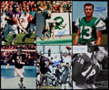 Football Collectibles:Photos, Football Greats Signed Photographs Lot of 9....