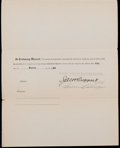 Baseball Collectibles:Others, 1920 Warren Collins Signed New York Yankees Contract with Ruppert& Ban Johnson. ...