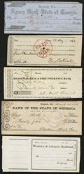 Miscellaneous:Checks, Group of Five Georgia Fiscal Documents 1830s-70s... (Total: 5items)