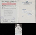 Baseball Collectibles:Others, 1954 Ed Burtschy Kansas City Athletics Player's Contract Lot of 2One Signed by Earle Mack. ...