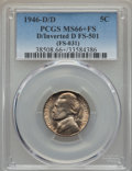1946-D/D 5C D Over Inverted D, FS-501, MS66+ Full Steps PCGS....(PCGS# 38508)