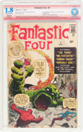 Silver Age (1956-1969):Superhero, Fantastic Four #1 Verified Signature Series - Trimmed (Marvel, 1961) CBCS Restored GD- 1.8 Moderate (A) Off-white to white pag...