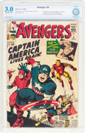 Silver Age (1956-1969):Superhero, The Avengers #4 (Marvel, 1964) CBCS GD/VG 3.0 Off-white to white pages....