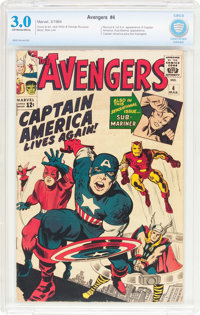 The Avengers #4 (Marvel, 1964) CBCS GD/VG 3.0 Off-white to white pages