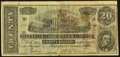 Confederate Notes:1864 Issues, Facsimile T67 $20 1864 Unknown Location- Dr. R.A. Van Deusen's Celebrated Indian Golden Ointment Advertising Note ND.. ...