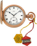 Timepieces:Pocket (post 1900), Rolex Unused Dennison Cased Pocket Watch. ...