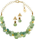 Estate Jewelry:Suites, Prehnite, Gold Jewelry Suite, Patricia Makena. ... (Total: 3 Items)