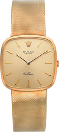 Timepieces:Wristwatch, Rolex Ref. 4114/1 Gent's Gold Cellini, circa 1970's. ...