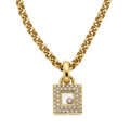 Estate Jewelry:Necklaces, Diamond, Gold Pendant-Necklace, Chopard. ... (Total: 2 Items)
